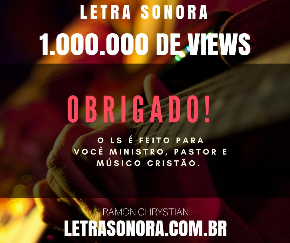 1.000.000 de views – obrigado!
